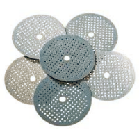 "150mm(6"") micro-perforated aluminium oxide hook and loop sanding discs."